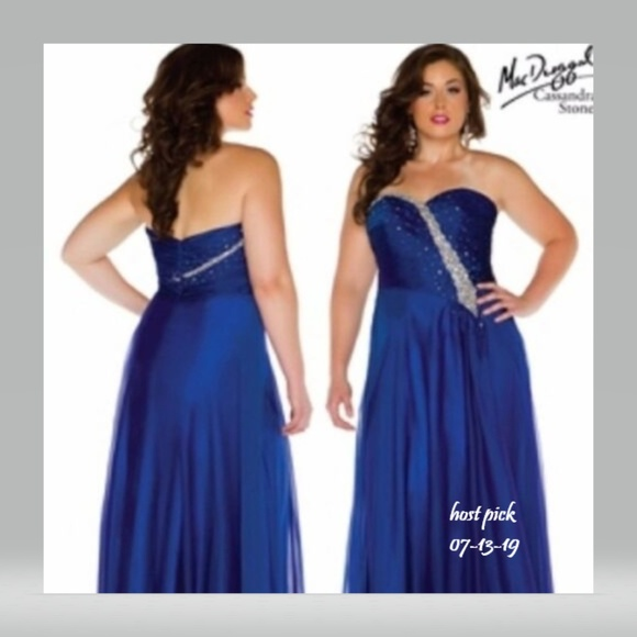 CLASSY & SASSY ROYAL BLUE PROM GOWN PLUS SIZE 26W Boutique